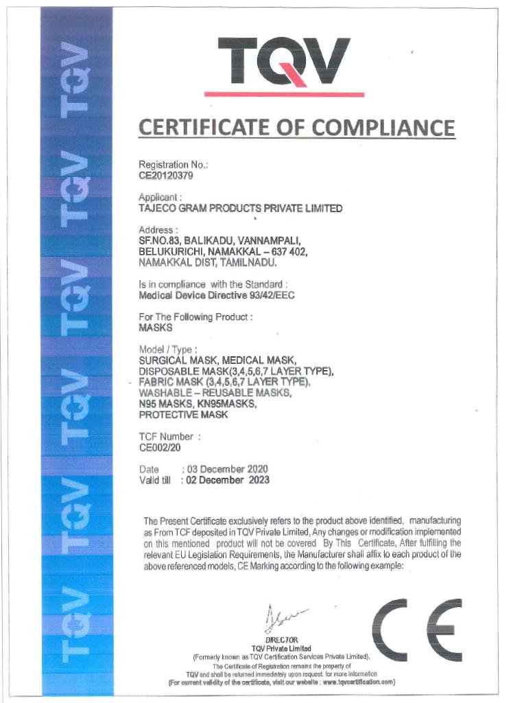 n95 Mask Certificate 2